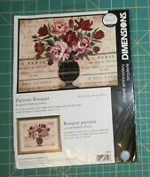 Parisian Bouquet Dimensions Crewel Embroidery Kit 14 X 11 Unopened