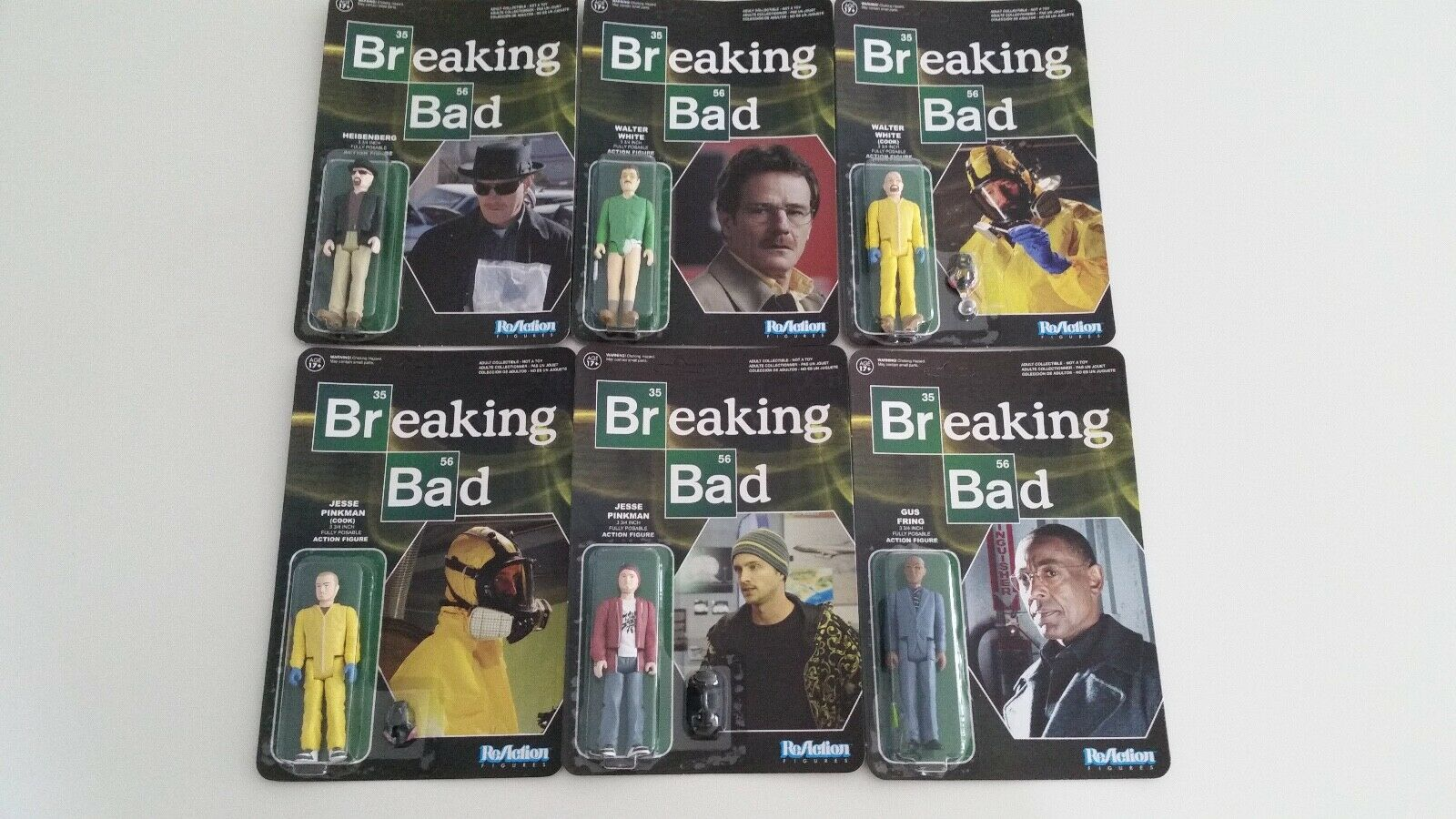 Breaking Bad Set of 6 ReAction Figures by Funko