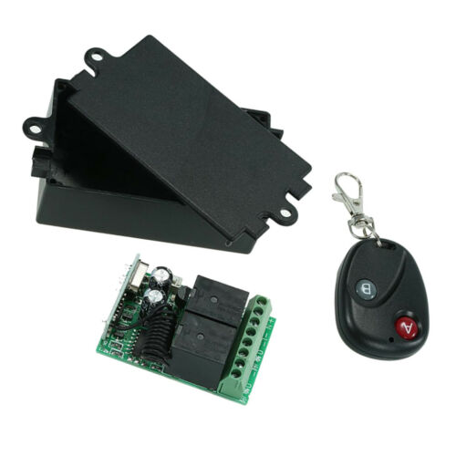 DC 12V 10A 2CH Relay RF Wireless Remote Control Switch with Remotes