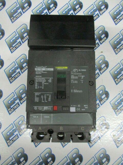 SQUARE D 100 AMP I-LINE CIRCUIT BREAKER FAB36100 3 POLE 600 VAC