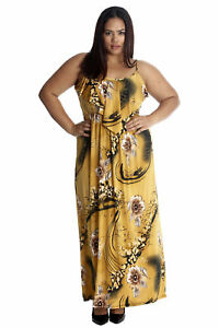 bad7228915b Details about New Women Plus Size Maxi Dress Ladies Floral Print Frill Top  Sleeveless Nouvelle