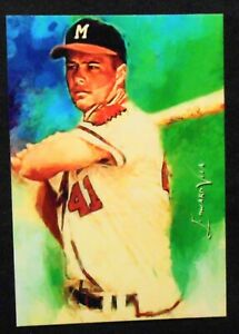 2016-Eddie-Mathews-sketch-card-7-vela-signed-and-limited-7-9-Milwaukee-Braves