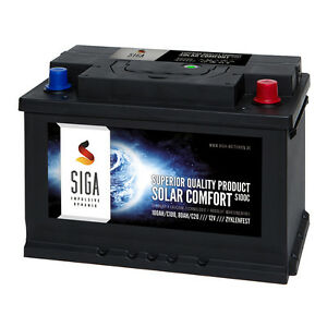 SIGA SOLAR Comfort 100Ah 12V Solar Batterie Versorgungsbatterie Wohnmobil Boot