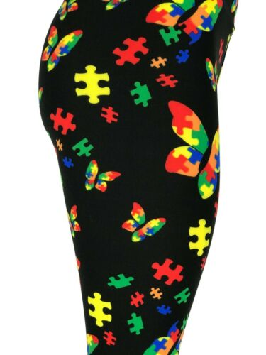 Autism Awareness Butterflies Puzzle Tall /& Curvy Yoga TC Buttery Soft FREE SHIP