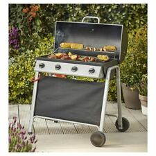 Tesco Barrel 4 Burner Gas Barbecue With Cover &Thermometer BBQ