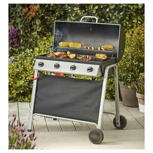 fe46d5eed6f6 Tesco Barrel 4 Burner Gas Barbecue With Cover &Thermometer BBQ ...