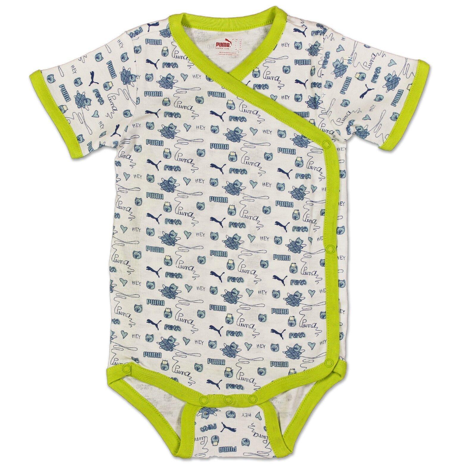 3ddb44239ecc PUMA Baby Romper Set Bodysuit Body Suit Scarf Bag White Green 68