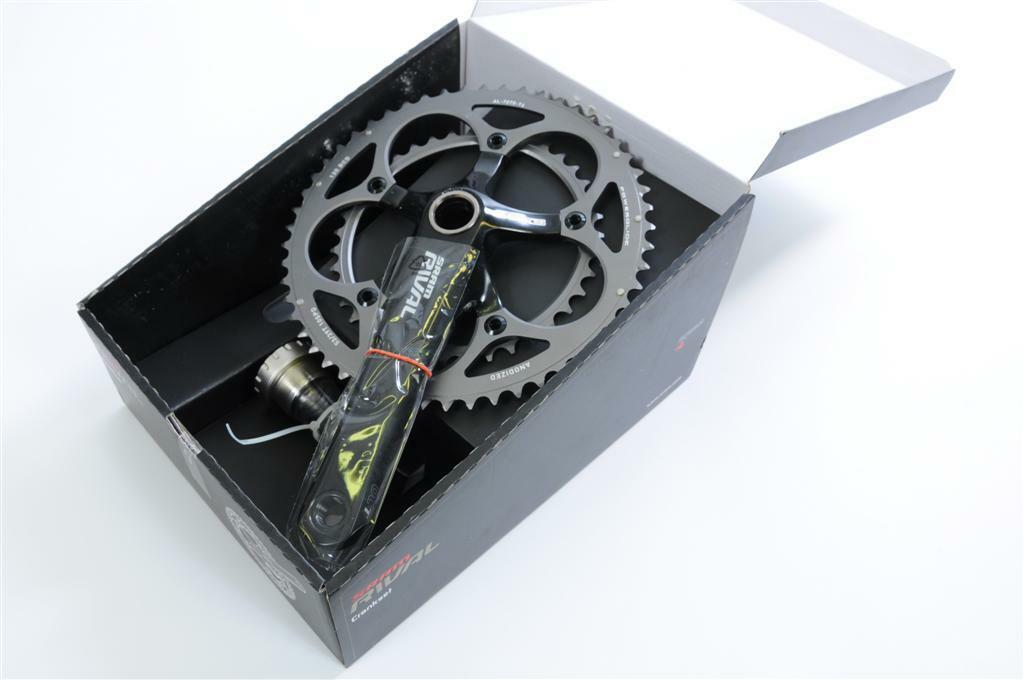 SRAM RIVAL 170mm ROAD CHAINSET DOUBLE 53 39 TEETH 10 SPEED 35% OFF RRP .99