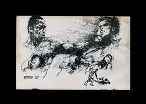 RARE-1975-MUHAMMAD-ALI-vs-JOE-FRAZIER-Signed-Boxing-Postcard-PC-Cassius-Clay