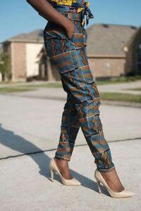 d9a895f7949a Women African print High Waist veroex Pants Trouser cool multi color ...