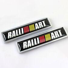2Pcs Car Sticker Rear Side Emblem Badge Auto Accessories For MITSUBISHI RALLIART