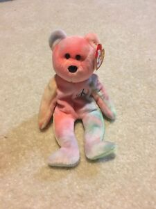 287f2ca904c Image is loading Brand-New-Ty-Beanie-Babies-Peace-Bear-Original-