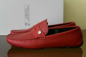 Red Leather Moccasins Loafers Sz. 9