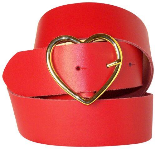 goldene Herz Gürtelschnalle FRONHOFER Herz Damengürtel 3,5 cm echt Leder