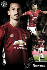 Zlatan Ibrahimovic TRIPLE-ACTION Manchester United Signature EPL Soccer POSTER