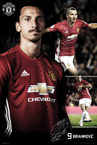 Zlatan Ibrahimović Manchester United Man Utd Print Photo Picture Poster A3 A4