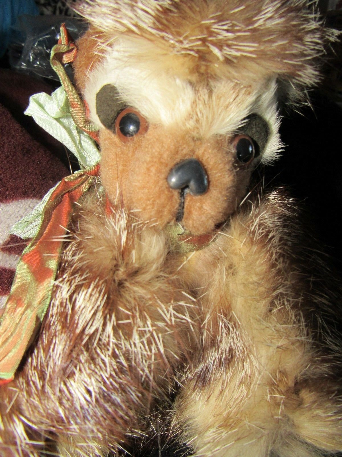 VINTAGE 9  REAL FOX FOX FOX FUR TEDDY orso OOAK ORIGINAL ARTIST S TAUBER RARE PUPPY DOG bdad5c
