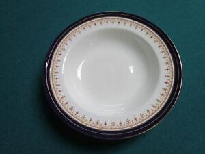 Aynsley-ENGLAND-John-Leighton-Cobalt-AND-GOLD-Smooth-Rim-Soup-Bowl-NEW