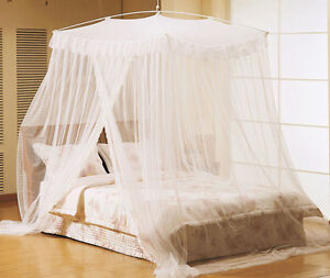 Mosquito net bed lace canopy netting curtain dome bedding - King size canopy bed with curtains ...