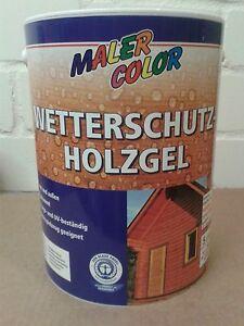 Holzgel protección contra la intemperie 5l en varios colores súper oferta l/4, 18 €  </span>