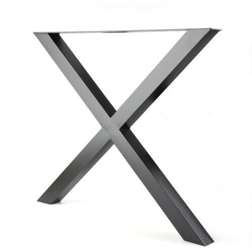 2PC Metal Table Legs X Frame Stainless Leg for Dining Table Desk Cabinet