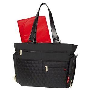 fisher price fastfinder quilted diaper bag tote black ebay. Black Bedroom Furniture Sets. Home Design Ideas