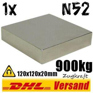 Extrem-starker-Neodym-Power-Magnet-120x120x20mm-12x12x2cm-900kg-N52-Dauermagnet