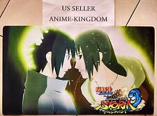 Custom Yugioh Playmat Play Mat Large Mouse Pad Naruto Sasuke & Itachi #583