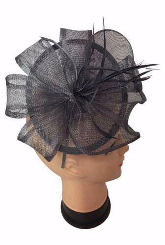 Ladies Headband Clip Sinamay Head Flower Wedding Occasion Hat Fascinator UK