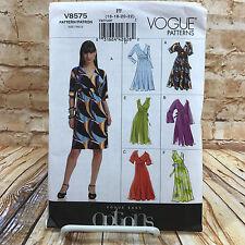 Vogue 8575 Womens Plus Size Pullover Dress Sz 16 22 Uncut Sewing Pattern