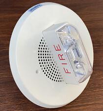 Wheelock E90 2415c Fire Alarm Speaker Strobe Ceiling Mount White