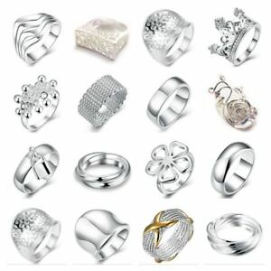 UK-Shop-925-SILVER-PLT-BAND-RING-P1-2-LADIES-STATEMENT-THUMB-TOE-MENS-TOP-GIFT