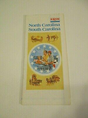 South Carolina Road Maps Vintage 1975 Exxon Gas North Carolina