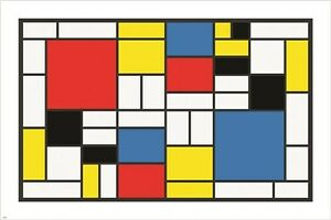 PIET MONDRIAN abstract cubes squares rectangles VINTAGE ...