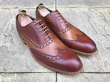 Barker Grant Wing Tip Brogue Shoes Rosewood Cedar Calf UK 8.5 B.N.I.B