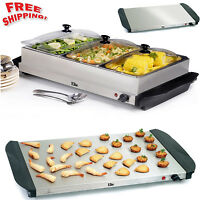 Buffet Server Food Warmer Tray Hot Cookware Restaurant Party Stainless Steel