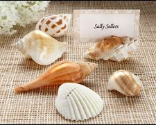 Set of 6 Wedding Seashell Place Card Holder Sea Shell Authentic Reception Favor