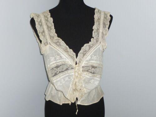 Fancy Antique Victorian Camisole 1900s Blouse Val… - image 1