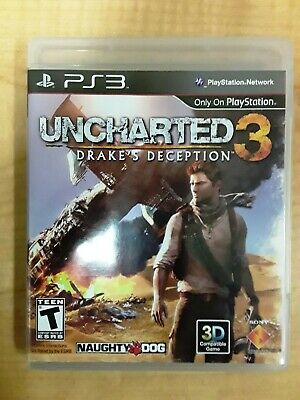 Playstation 3 Ps3 Uncharted 3 Drakes Deception Naughty Dog W Case