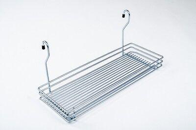 Wesco Relingsystem Ablage 450/200 Chrom Küchenreling Gewürzablage Gewürzbord neu