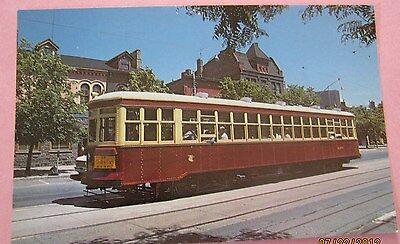 Large Peter Witt #2424 of the TTC St Claire Inglewood Toronto Streetcar Postcard
