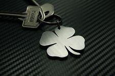 CLOVER Four 4 Leaf Lucky Good Luck New Job Home Keyring Keychain Key Fob Gift