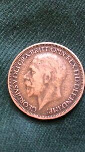 George V 1927 Half Penny - <span itemprop=availableAtOrFrom>Haverhill, United Kingdom</span> - George V 1927 Half Penny - Haverhill, United Kingdom