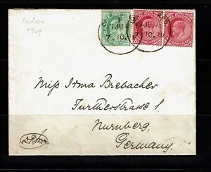 India-1909-Cover-to-Germany-Lot-092417
