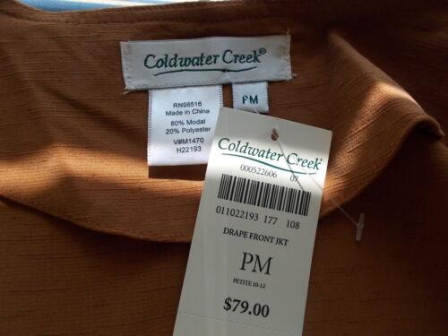 Nwt Sz M Textured Front Drape Creek Jacket P Pm New Coldwater Karmelbrunt q84wxqrZBR