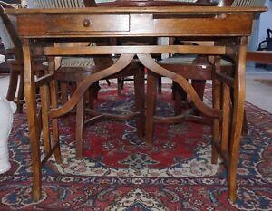 Credenza Perugia : 900 antico tavolo da cassiere banca italia di perugia legno tinta