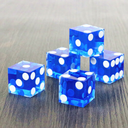 High-grade Acrylic precision dice transparent Blue dice six side 19mm 5 pcs