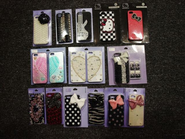 check out 2934f 6fbf7 CLAIRE'S bling cell phone case iPhone 5 - pearls, hearts, bows,BFF,NAIL SET,