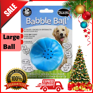Pet-Qwerks-Babble-Talking-Electronic-Ball-Dog-Cat-Interactive-Toy-Funny-Sounds