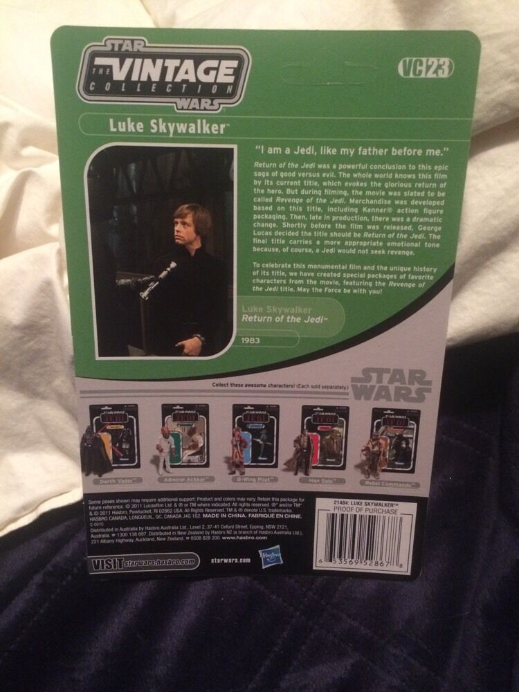SDCC STAR WARS card vintage collection proof card WARS Revenge Of Jedi Luke Endor VC23 7478fc